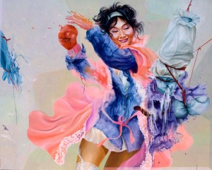 Hyperactive, 145 cm X 180 cm, Acrylic on canvas, 2009